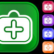 Icon of medical case — 图库矢量图片