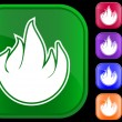 Vector de stock : Icon of fire