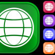 Globe icon — Stockvector #1613630