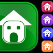 Home icon — Stockvectorbeeld