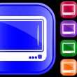 Stock Vector: Icon of television