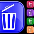 Icon of garbage can - Stock Vector