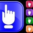Icon of hand with pointing/selecting - Stock Vector