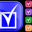 Icon of tick in checkbox — Vettoriali Stock