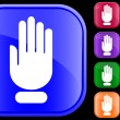 Icon of stop hand — Vector de stock #1613994