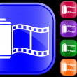 Icon of film — Stockvectorbeeld