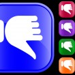 Icon of thumbs down — Vector de stock #1614030