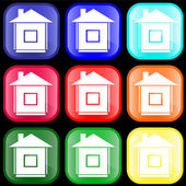 Icon of house on buttons — Stockvector