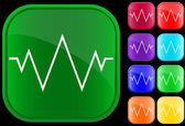 Bir elektrokardiyogram simgesi — Stok Vektör