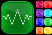 Icon of an electrocardiogram — Vettoriale Stock