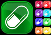 Icon of medical capsule — Vector de stock