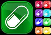 Pictogram van medische capsule — Stockvector