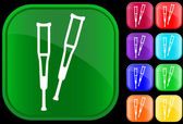 Icon of crutches — Stock Vector