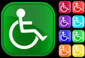 Icono de handicap — Vector de stock