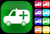 Medyczny ambulans sanitarny ikona — Wektor stockowy