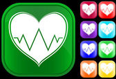Icon of cardiogram — Stock Vector