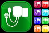 икона манометр давления крови — Cтоковый вектор