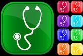 Stetoskop simgesi — Stok Vektör