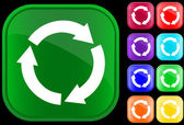 Recycling circle — Stockvektor