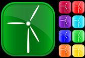 Symbol einer windmühle — Stockvektor