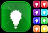Ikona światła — Wektor stockowy