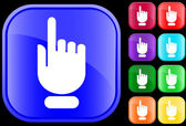Icon of hand with pointing/selecting — ストックベクタ