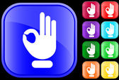 Icon of OK gesture — Stock Vector