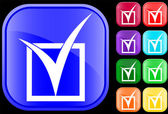 Icon of tick in checkbox — Vettoriale Stock