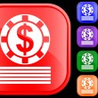 Icon of casino chips — Vector de stock #1620099