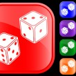 Icon of dice — Vettoriali Stock