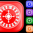 Icon of roulette — Vettoriali Stock
