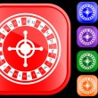 Icon of roulette — Stockvectorbeeld