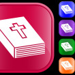 Icon of bible — Vector de stock #1620140