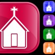 Icon of church — Vector de stock