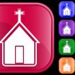 Icon of church — Stock Vector