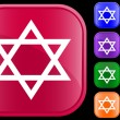 Judaism  symbol — Stockvectorbeeld