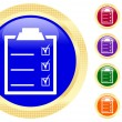 Icon of checklist — Stock Vector #1620314