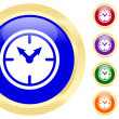 Stock Vector: Icon of clock