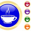 Icon of a cup on buttons — 图库矢量图片
