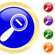 Icon of magnifying glass — Stock Vector