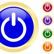 Vector de stock : Icon of power button