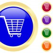 Shopping cart icon — Stockvectorbeeld