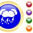Icon of thunderstorm — Stock Vector #1620489