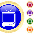 Stock Vector: Icon of TV