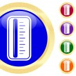 Icon of thermometer — 图库矢量图片