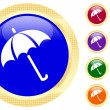 Icon of umbrella — Stockvectorbeeld