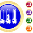 Stock Vector: Icon of thermometer