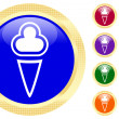 Icon of ice-cream — Vector de stock