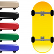 Skateboards — Vettoriali Stock