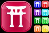 ícone da fé xintoísta — Vetorial Stock
